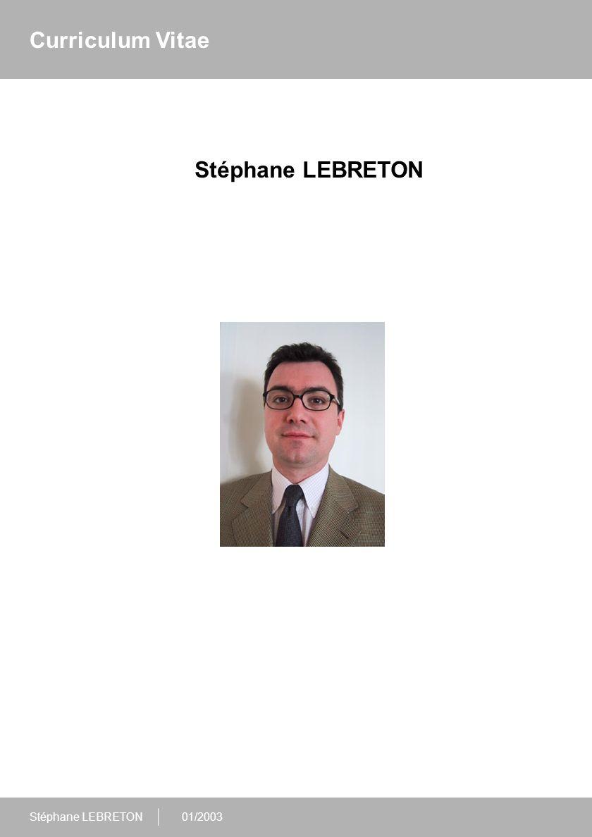 01/2003 Fiche d'identité Nom : 95, rue Perronet 92 200 NEUILLY sur SEINE lebreton.stephane@tiscali.fr Coordonnées :Tél.