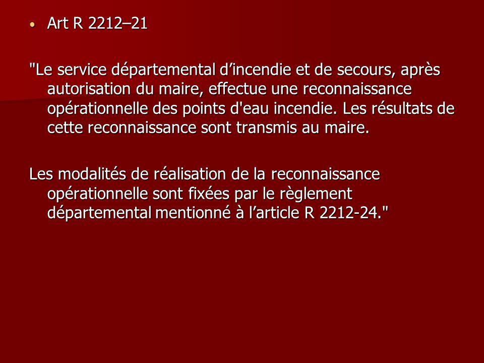 Art R 2212–21 Art R 2212–21