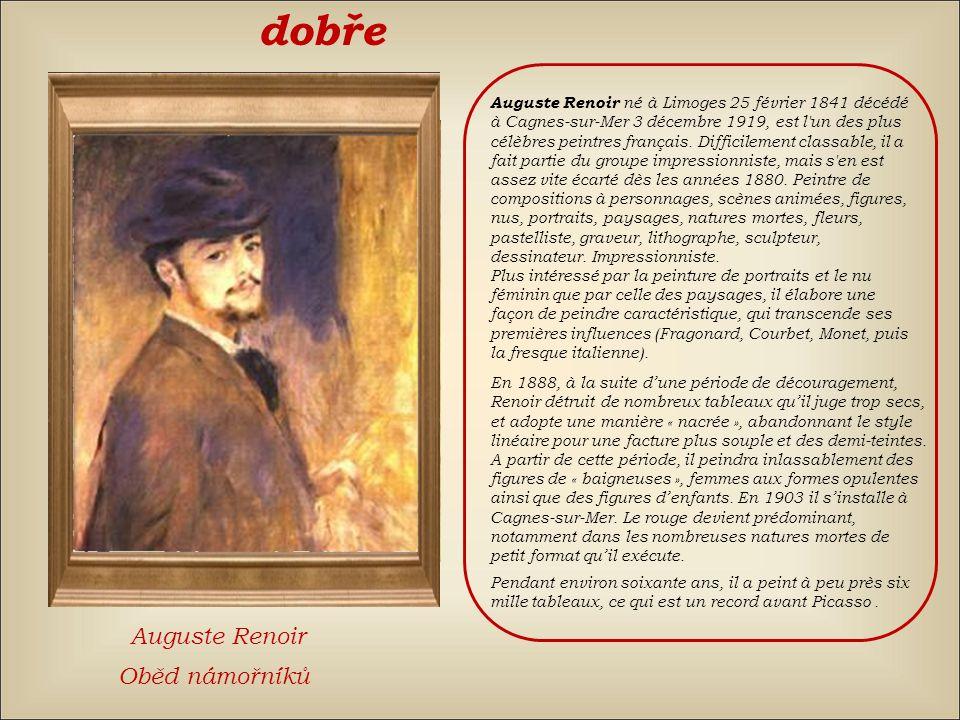 špatně znovu Claude MonetAuguste RenoirÉdouard Manet
