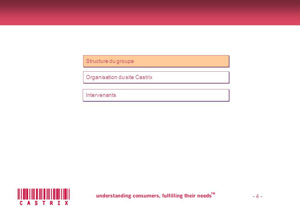 - 5 - Structure du groupe NVK Holdings Castrix Inc.