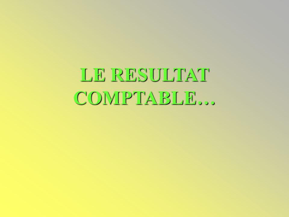 LE RESULTAT COMPTABLE…