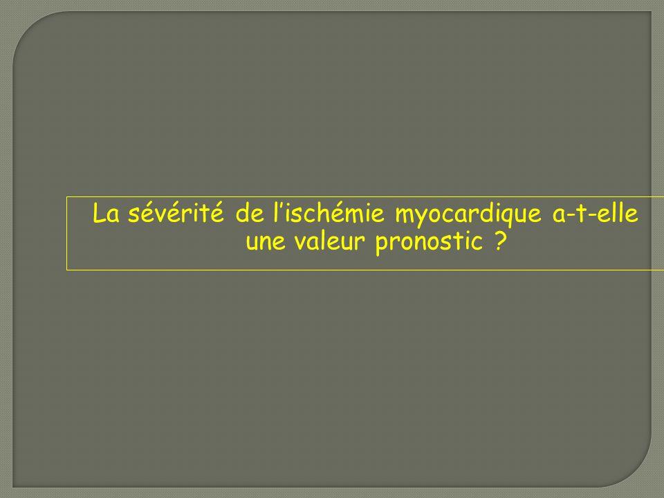La sévérité de l'ischémie myocardique a-t-elle une valeur pronostic ?