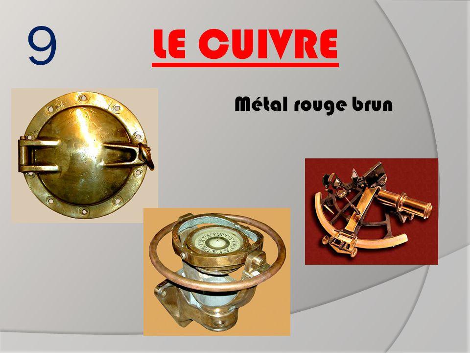 9 Métal rouge brun LE CUIVRE Hublot sextant Boussole ?