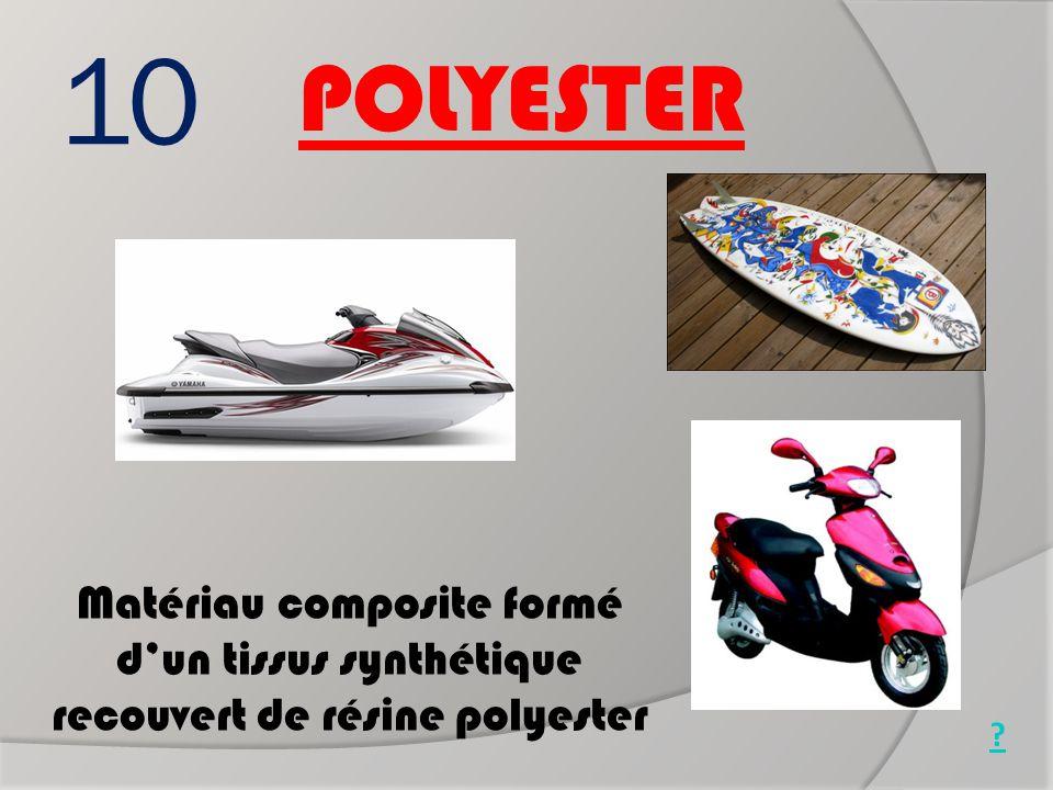 10 Matériau composite formé d'un tissus synthétique recouvert de résine polyester POLYESTER ? Jet ski Scooter Surf