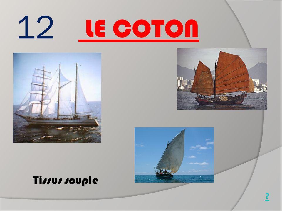 12 Tissus souple LE COTON Jonque chinoise Goélette (1850) Boutre africain ?