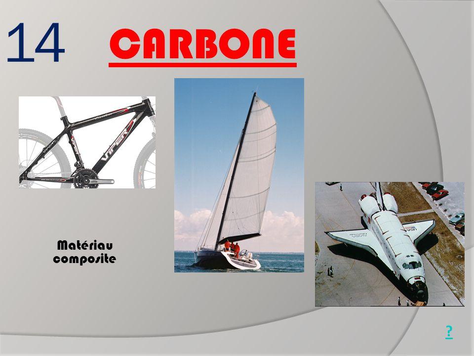 14 Matériau composite Nez de navette spatiale Cadre de vélo Mat de bateau CARBONE ?