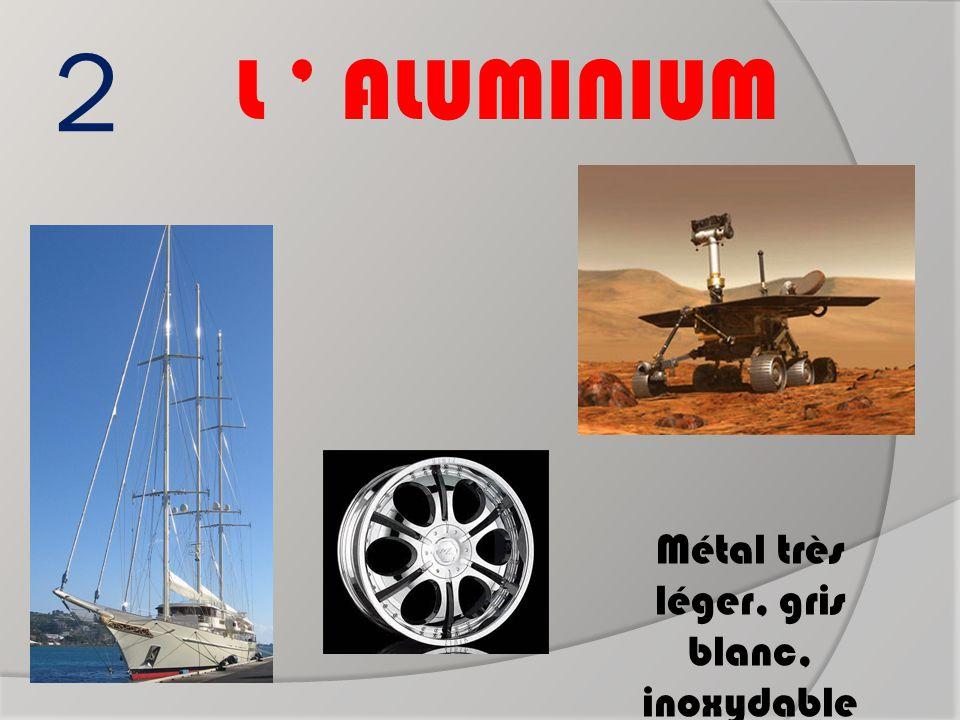 2 L ' ALUMINIUM Métal très léger, gris blanc, inoxydable Roues de robot lunaire Mats de bateau Jantes de voiture ?
