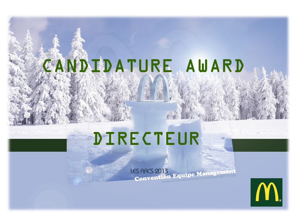 CANDIDATURE AWARD DIRECTEUR