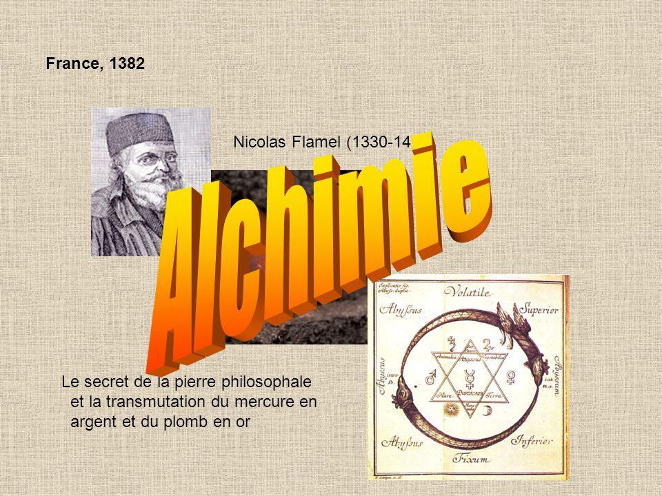 Alchimie : C'est une philosophie à base expérimentale, trouvant son origine à Alexandrie au IV ième siècle avant J.-C.