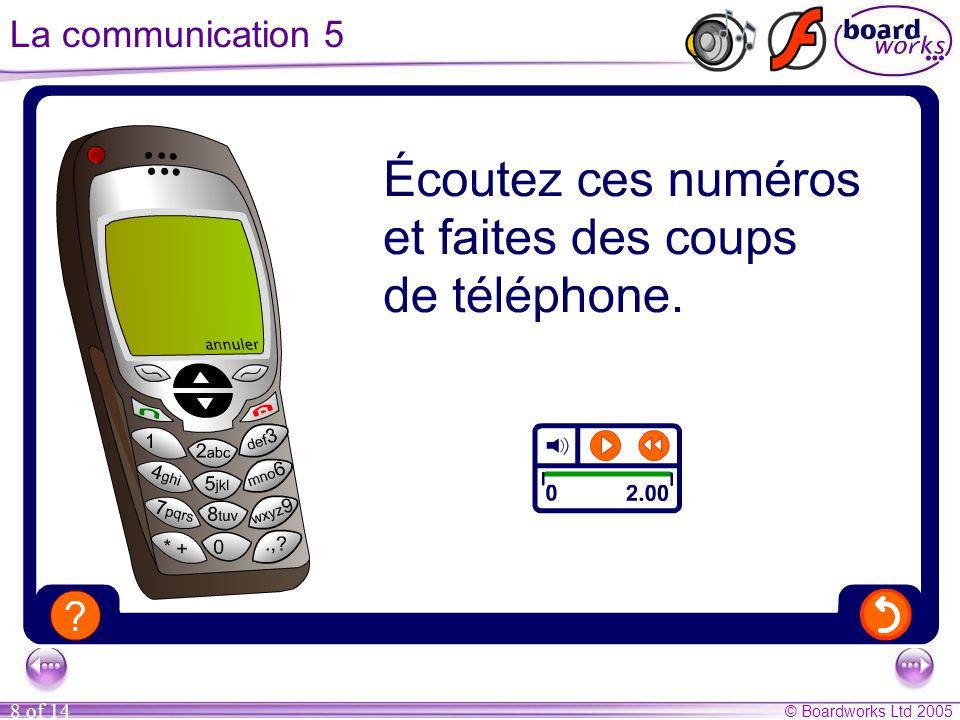 © Boardworks Ltd 2005 8 of 14 La communication 5