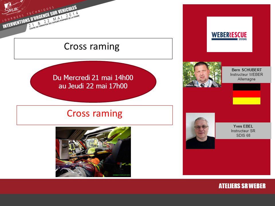 Cross raming ATELIERS SR WEBER Cross raming Du Mercredi 21 mai 14h00 au Jeudi 22 mai 17h00 Bern SCHUBERT Instructeur WEBER Allemagne Yves EBEL Instruc