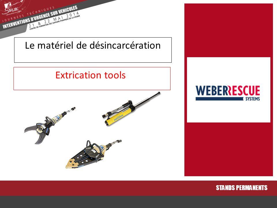 Extrication tools STANDS PERMANENTS Le matériel de désincarcération
