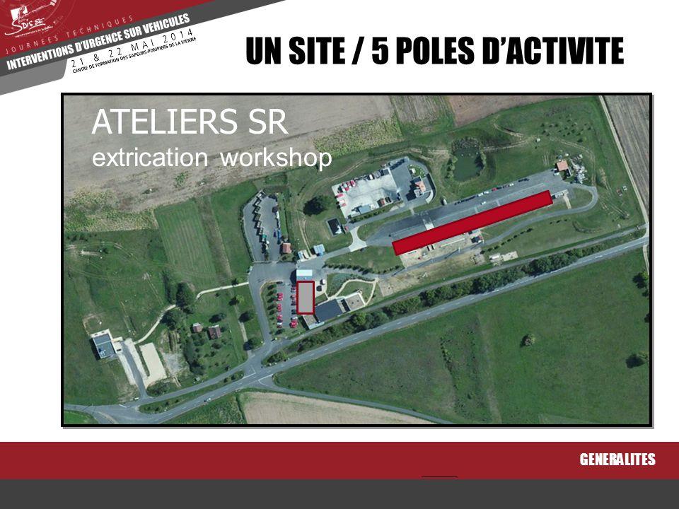 GENERALITES UN SITE / 5 POLES D'ACTIVITE STANDS PERMANENTS permanent exhibition