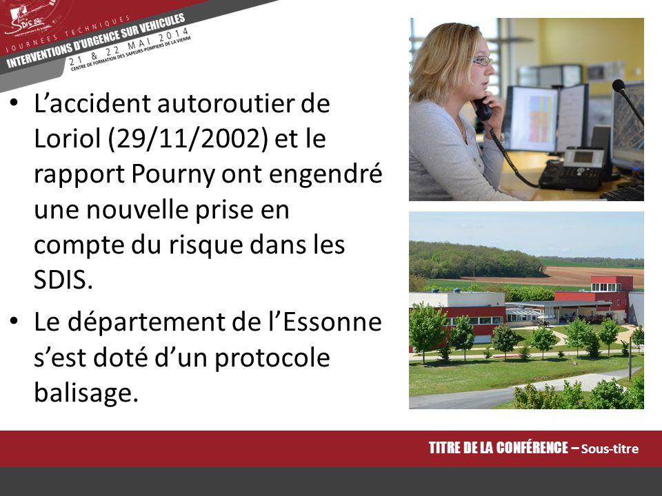 L'accident autoroutier de Loriol (29/11/2002) et le rapport Pourny ont engendré une nouvelle prise en compte du risque dans les SDIS. Le département d