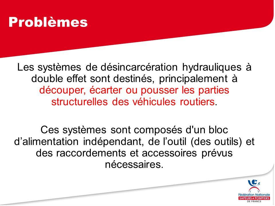 Les systèmes de désincarcération hydrauliques à double effet sont destinés, principalement à découper, écarter ou pousser les parties structurelles de