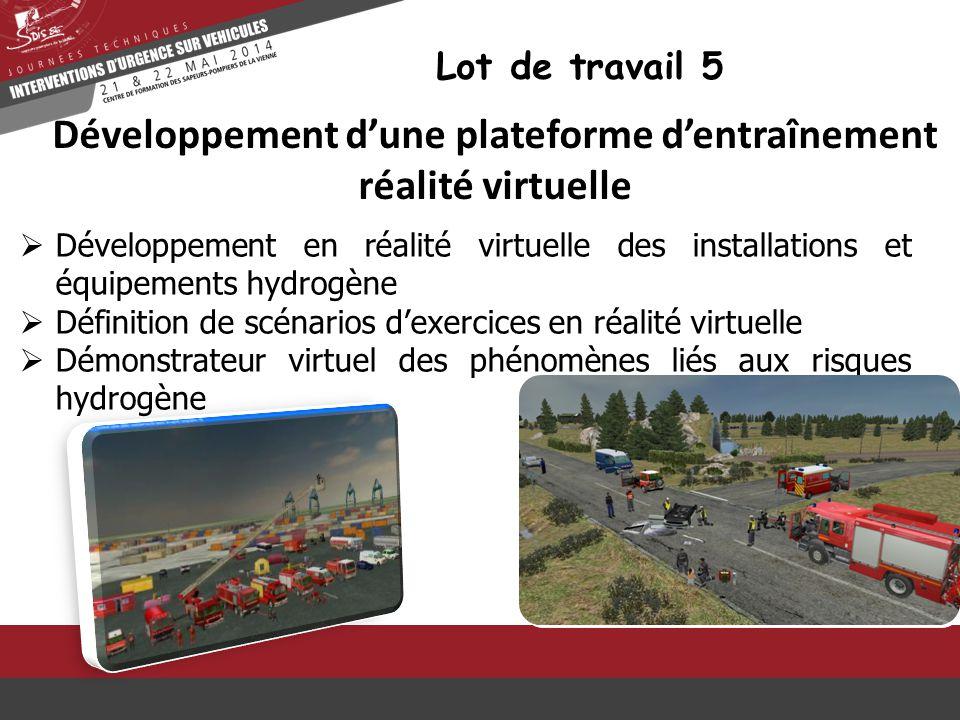  Développement en réalité virtuelle des installations et équipements hydrogène  Définition de scénarios d'exercices en réalité virtuelle  Démonstra