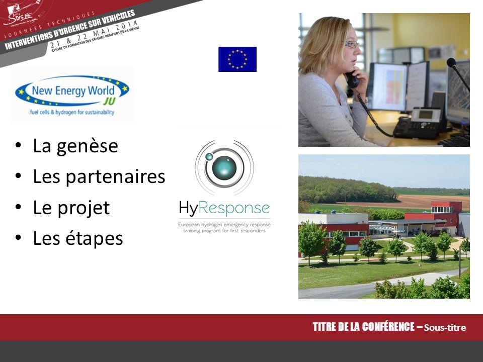 La genèse Risque émergent Absence de formation Positionner l'ENSOSP comme partenaire européen Projet initié en 2011 Renouvelé en 2012