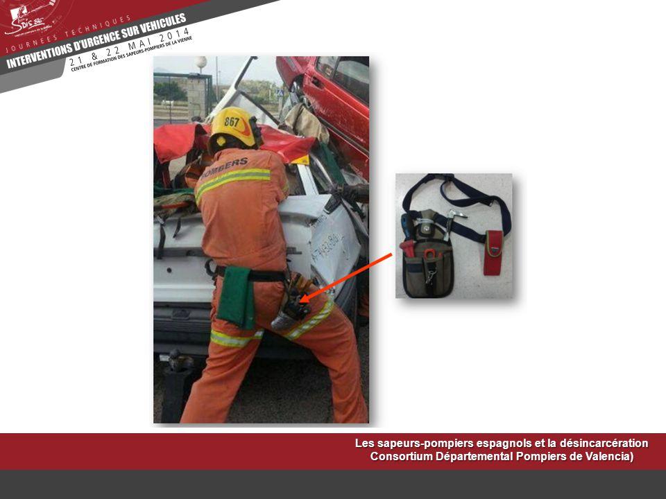 Les sapeurs-pompiers espagnols et la désincarcération Consortium Départemental Pompiers de Valencia)