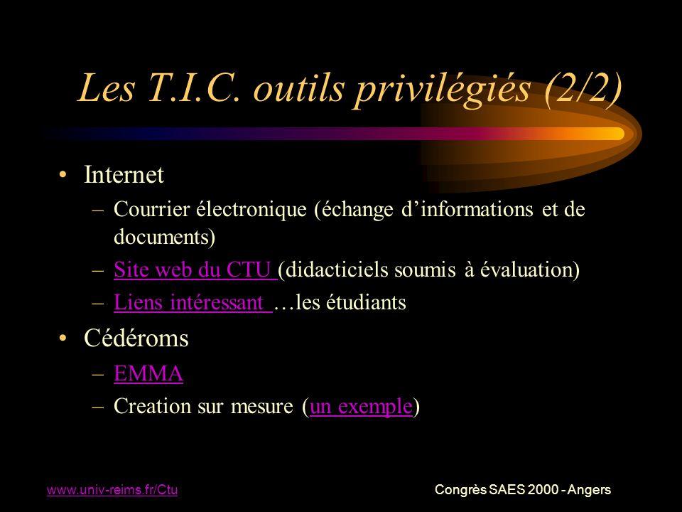 www.univ-reims.fr/Ctu Congrès SAES 2000 - Angers Les T.I.C.
