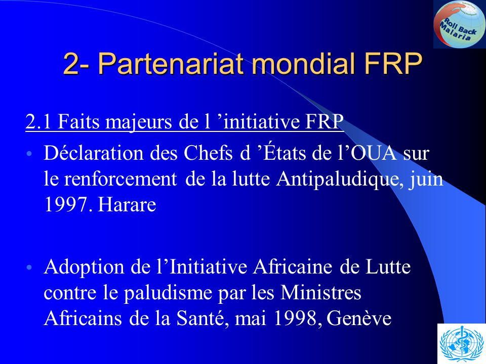1-Introduction 1.1 Fardeau du Paludisme en Afrique Le paludisme frappe surtout les pauvres.