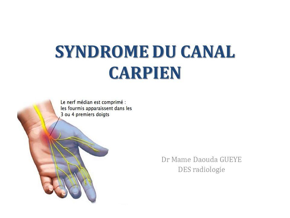 OBJECTIFS Décrire les signes échographique de la compression du nerf médian dans le canal carpien Citer les principales causes du syndrome du canal carpien Connaître l'aspect radiologique des variantes anatomiques