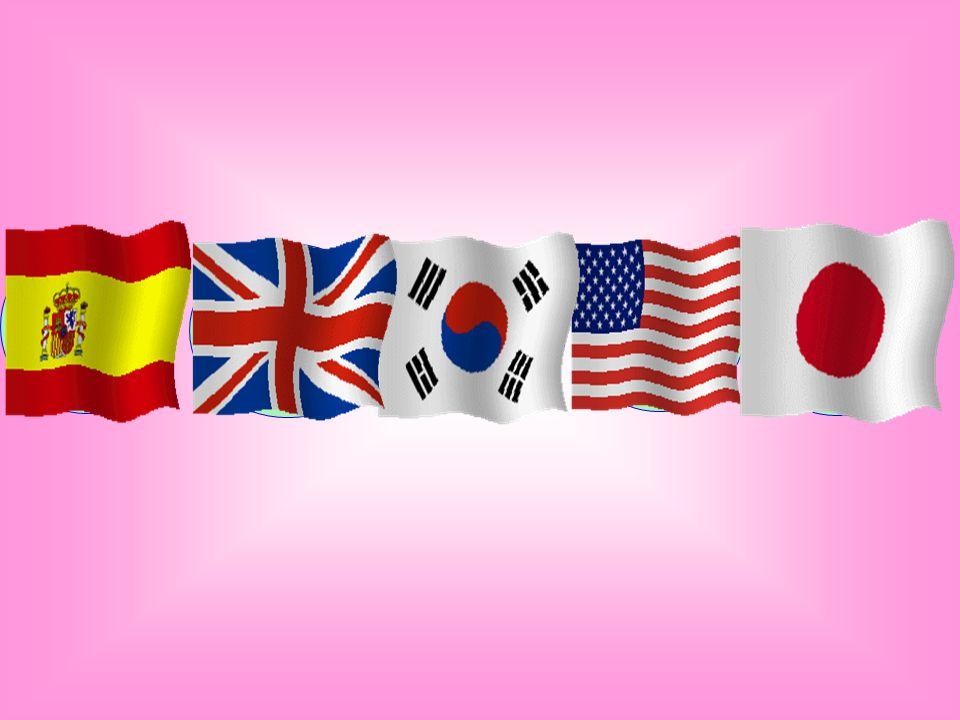 ESPAGNE ANGLETERRE CORÉE DU SUD ÉTATS-UNIS JAPON