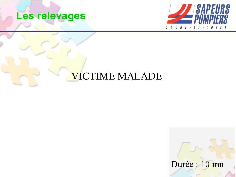 VICTIME MALADE Les relevages Durée : 10 mn