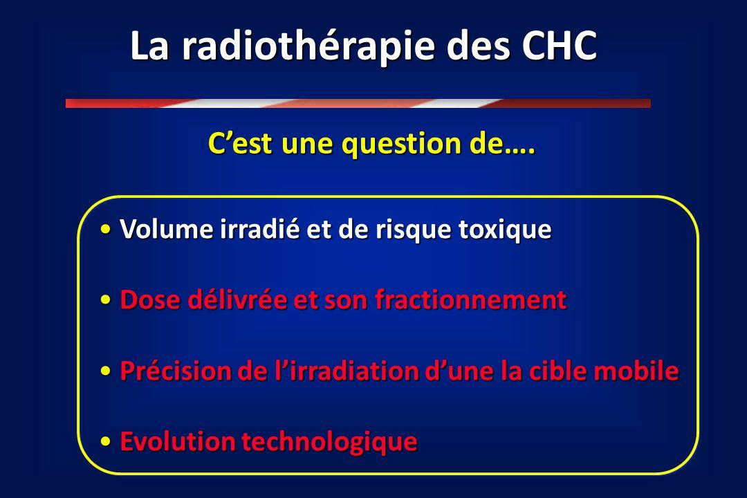 Maladie veino-occlusive après irradiation Hépatopathie…altération fonctionnelle Facteur limitant : tolérance du parenchyme hépatique Courtesy A.