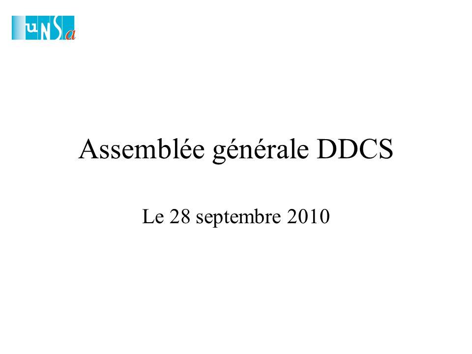 Assemblée générale DDCS Le 28 septembre 2010