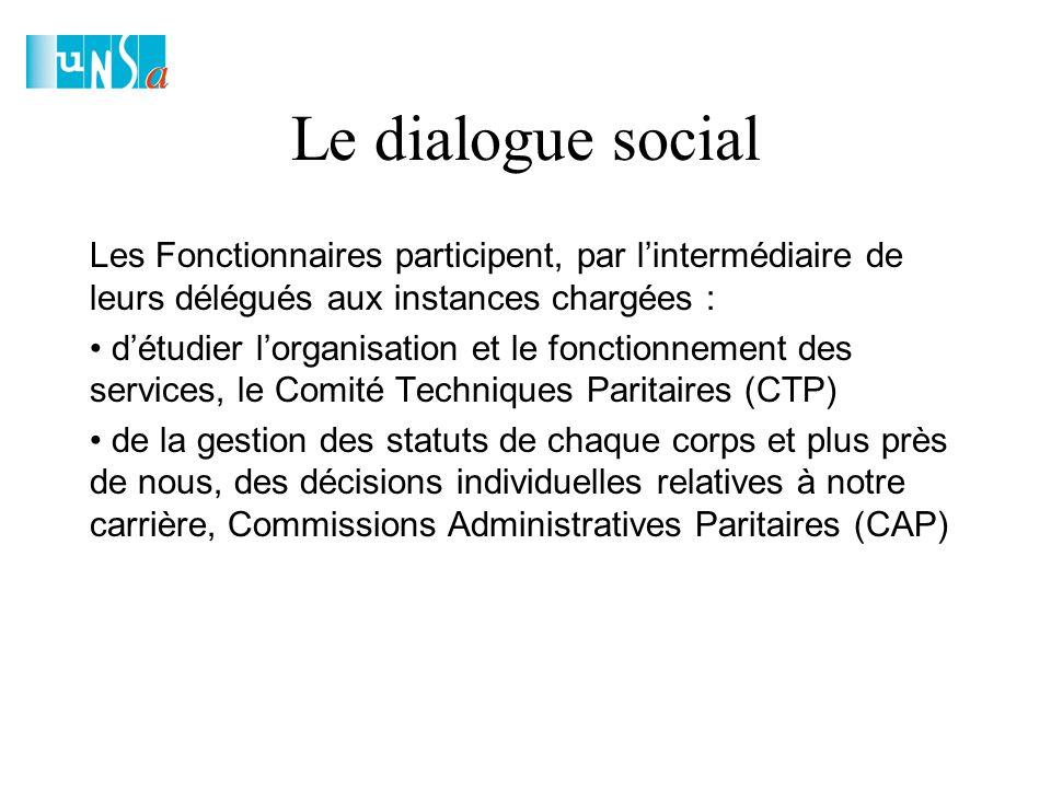 Le dialogue social Les Comités Techniques Paritaires : Les Comités Techniques Paritaires font partie des Instances institutionnelles d'échanges et de négociation du dialogue social et peuvent s'assimiler à une sorte de «comité d'entreprise» à l'échelle d'une administration.