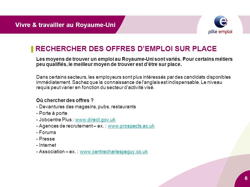 7 ▌ ADRESSE UTILE Pôle emploi international 3ter, rue Gambetta – 57000 Metz Tél.