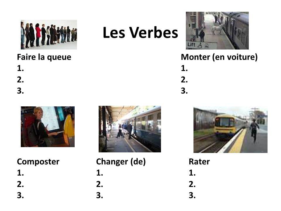 Les Noms Masculins Un train 1.2. 3. Un quai 1. 2.