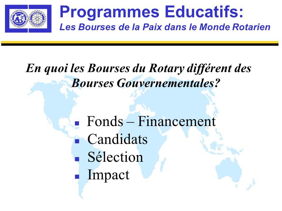 Programmes Educatifs: Programme des Centres du Rotary Quatre Composants-Clé n Cursus – les Cours n Disciplines de Spécialisation n Stages/Projets d'Eté n Séminaires Annuels