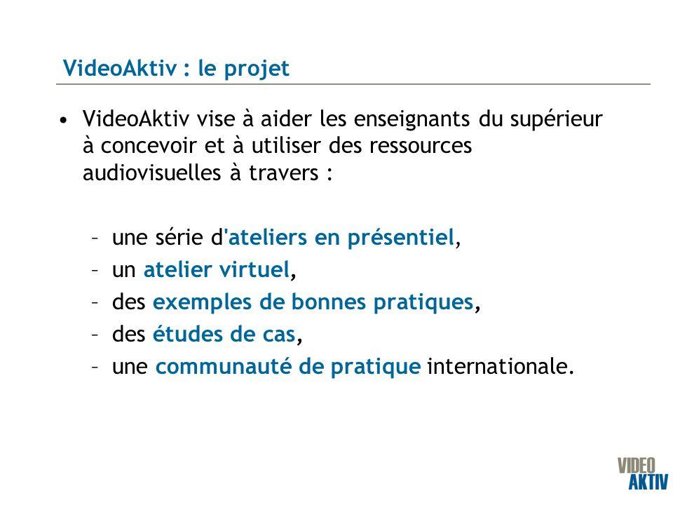 VideoAktiv vise à aider les enseignants du supérieur à concevoir et à utiliser des ressources audiovisuelles à travers : –une série d'ateliers en prés