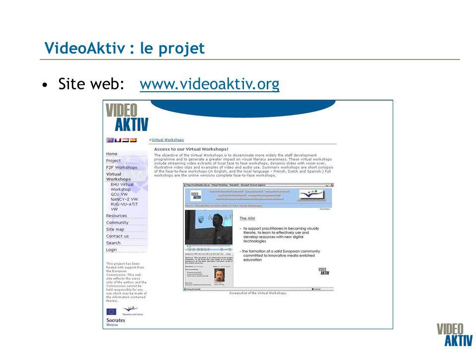 Site web: VideoAktiv : le projet www.videoaktiv.org