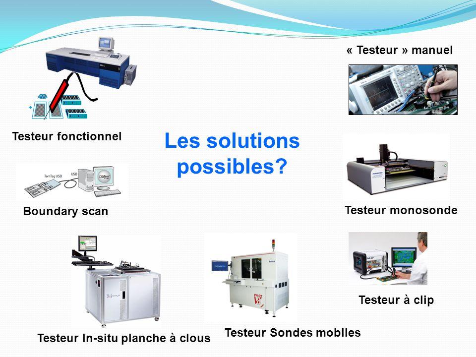 Testeur monosonde Testeur Sondes mobiles Testeur In-situ planche à clous Boundary scan Testeur fonctionnel Testeur à clip « Testeur » manuel Les solut