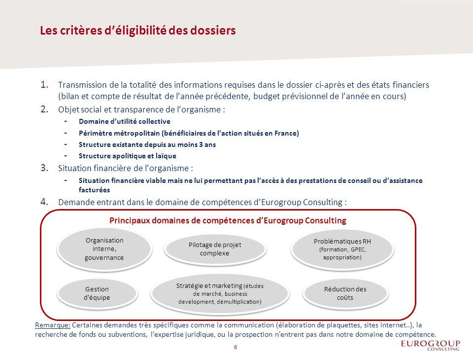 1. Transmission de la totalité des informations requises dans le dossier ci-après et des états financiers (bilan et compte de résultat de l'année préc