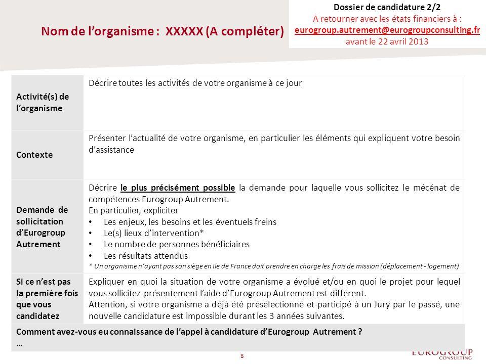 EUROGROUP CONSULTING FRANCE TOUR VISTA 52/54 QUAI DE DION BOUTON 92806 PUTEAUX CEDEX TEL.