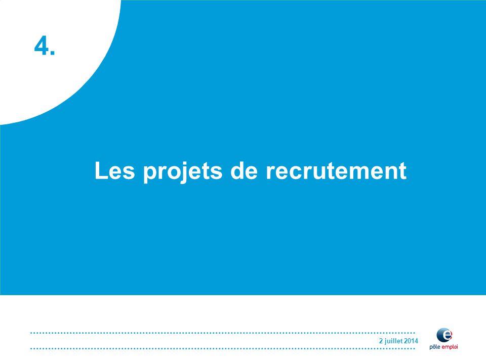 4. 2 juillet 2014 Les projets de recrutement