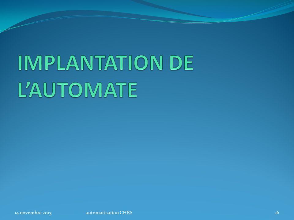 automatisation CHBS1614 novembre 2013