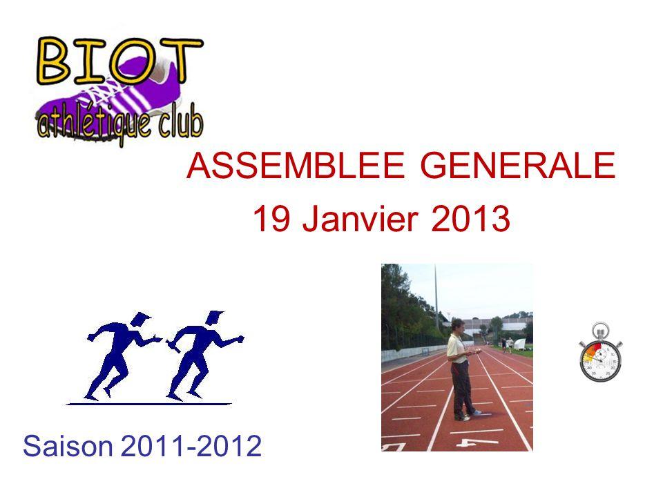 Saison 2011-2012 ASSEMBLEE GENERALE 19 Janvier 2013