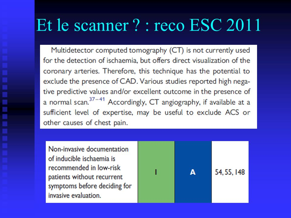 Et le scanner ? : reco ESC 2011