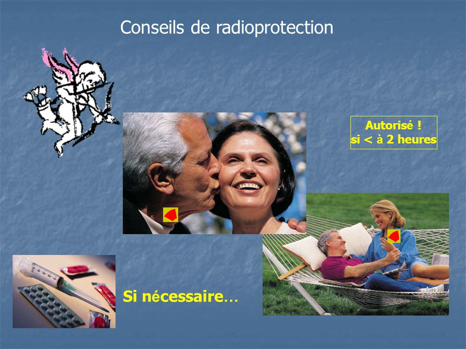 Conseils de radioprotection Autoris é ! si < à 2 heures Si n é cessaire …