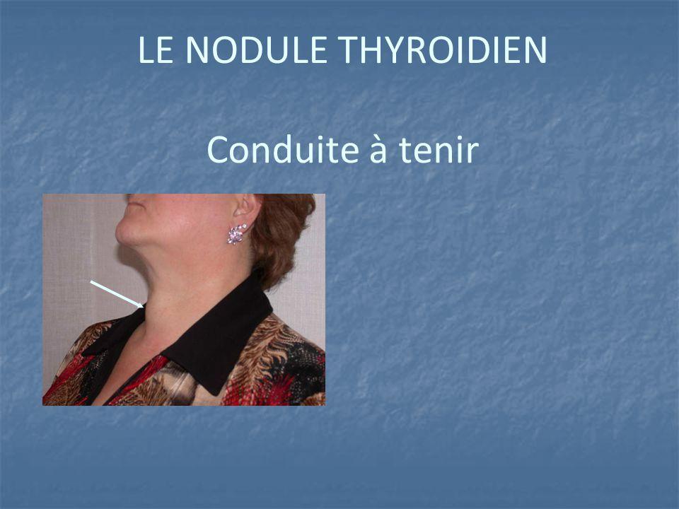 LE NODULE THYROIDIEN Conduite à tenir