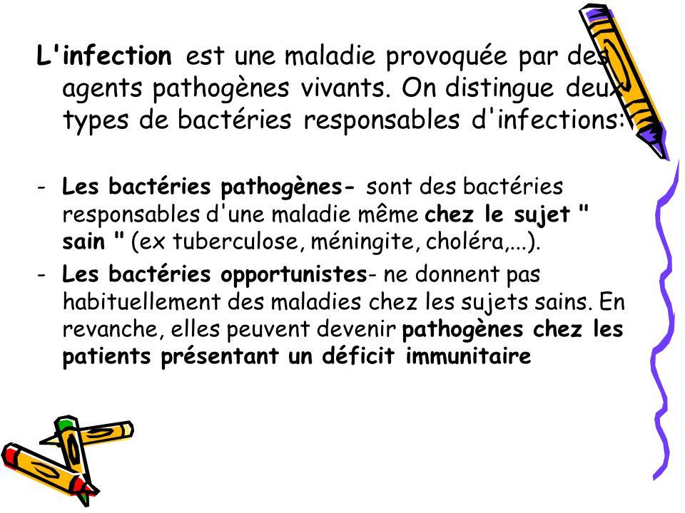 L infection est une maladie provoquée par des agents pathogènes vivants.