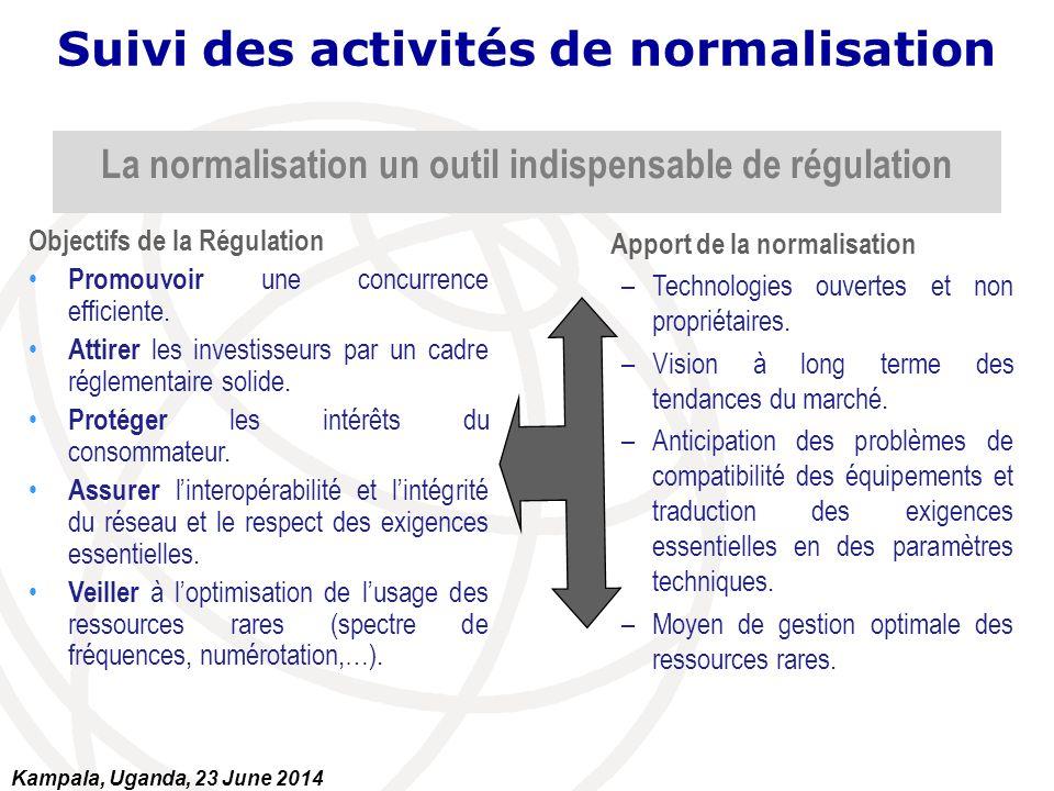 La normalisation un outil indispensable de régulation Objectifs de la Régulation Promouvoir une concurrence efficiente. Attirer les investisseurs par