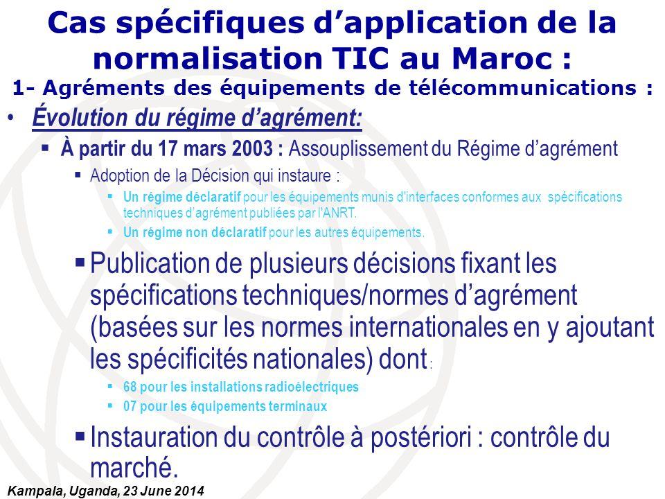Évolution du régime d'agrément:  À partir du 17 mars 2003 : Assouplissement du Régime d'agrément  Adoption de la Décision qui instaure :  Un régime