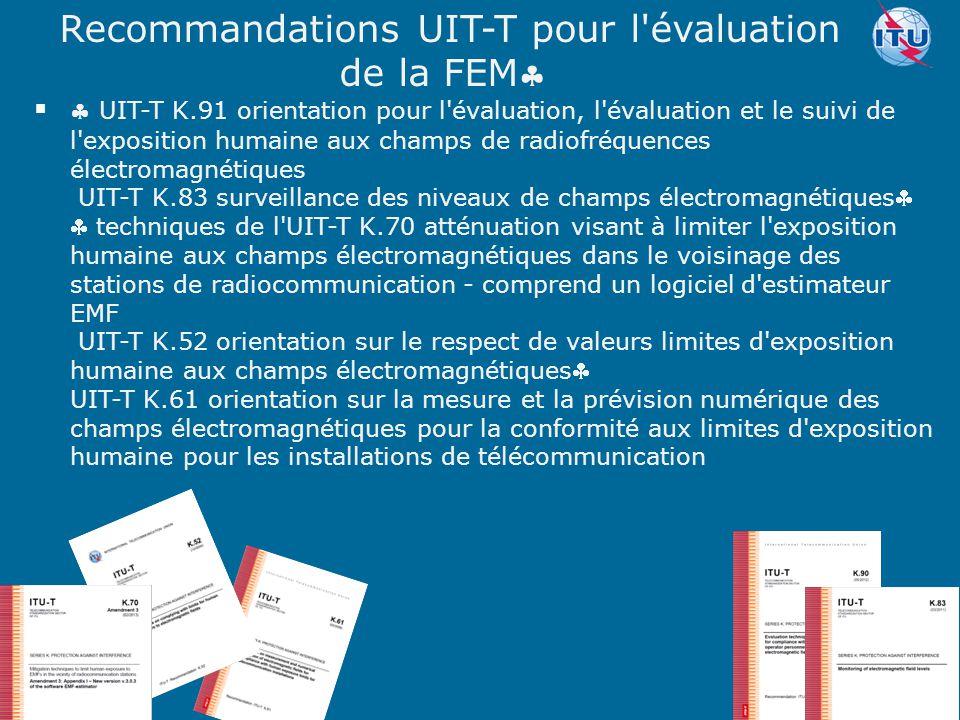 Committed to connecting the world   UIT-T K.91 orientation pour l'évaluation, l'évaluation et le suivi de l'exposition humaine aux champs de radiofr