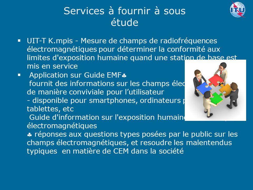 Committed to connecting the world  Application sur Guide EMF fournit des informations sur les champs électromagnétiques de manière conviviale pour l