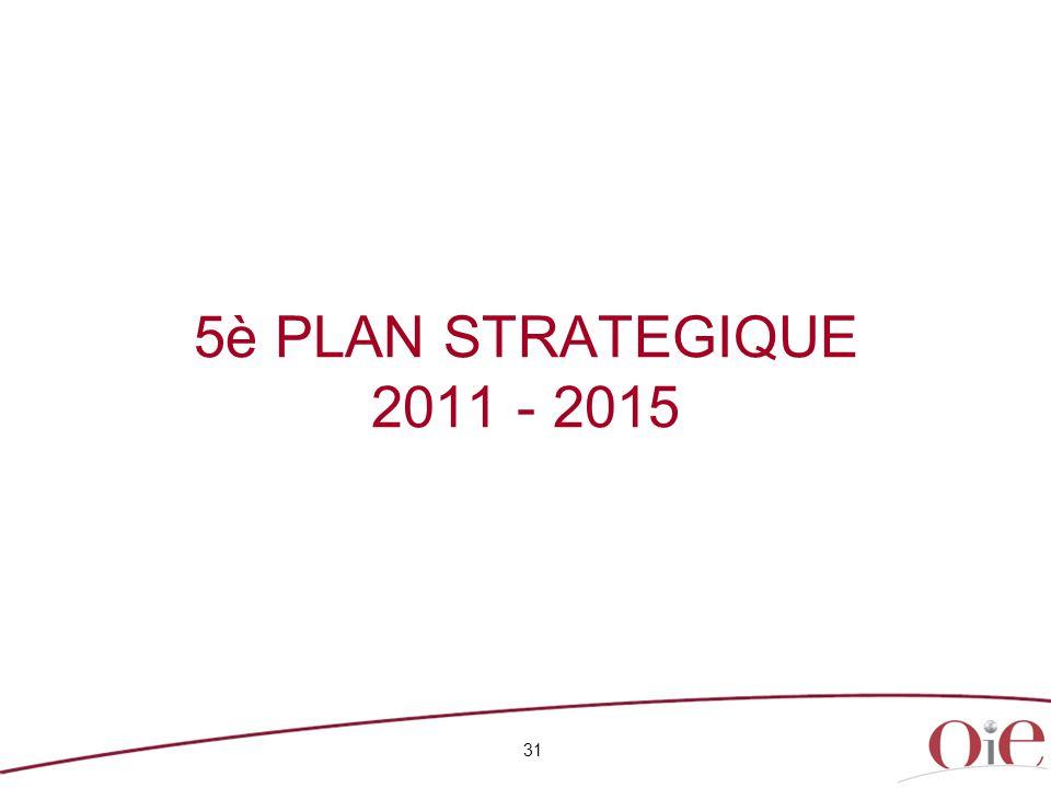 5è PLAN STRATEGIQUE 2011 - 2015 31